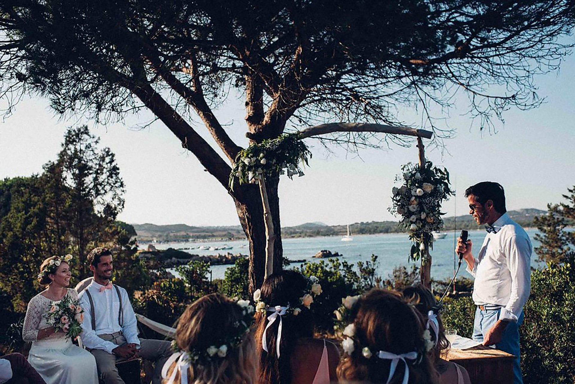 Aurelie and Thomas, wedding ceremony with sea-view