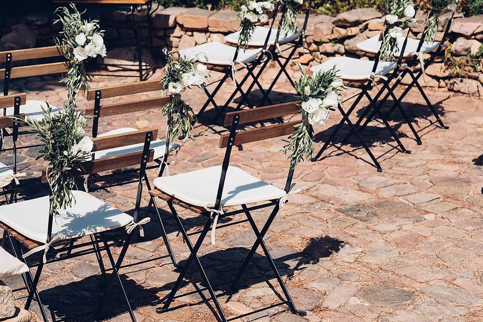 Aurelie and Thomas, wedding ceremony, chairs decoration