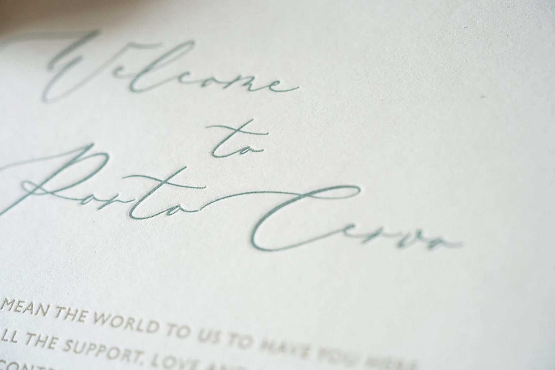Charlotte and Mark, wedding stationery