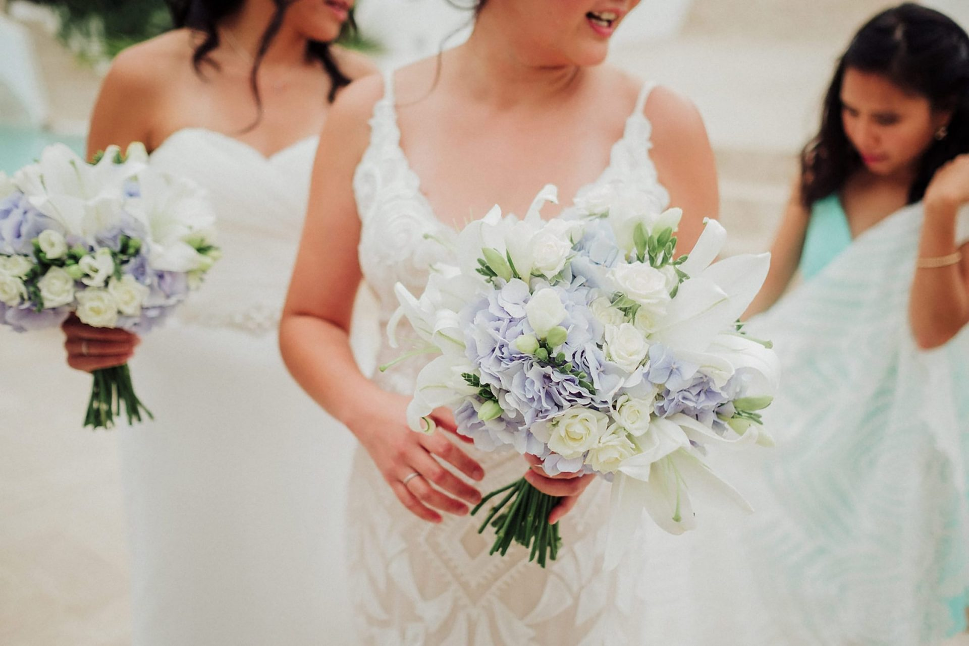 Cheryl and Leslye, the brides bouquet