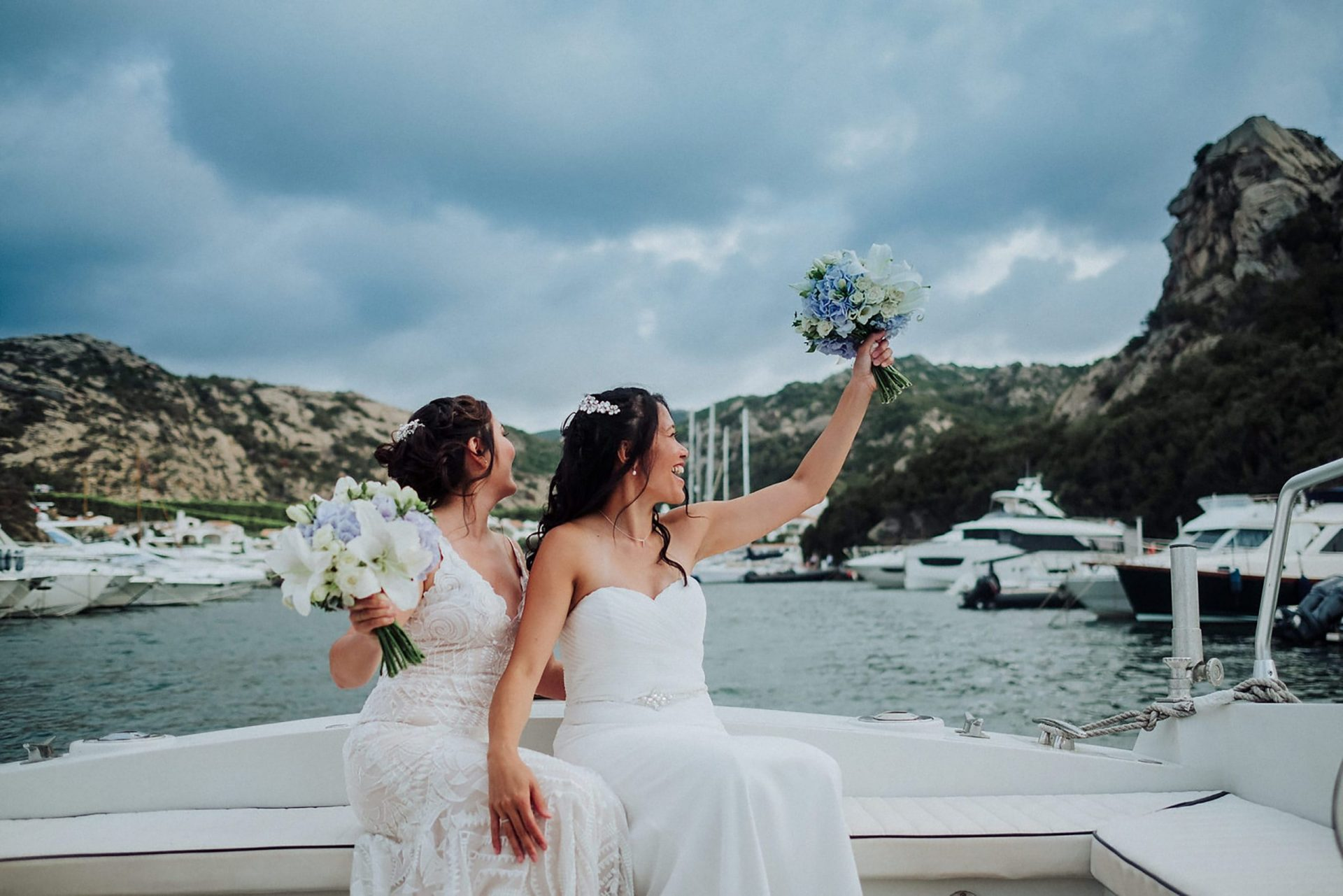 Cheryl and Leslye, the brides on the boat
