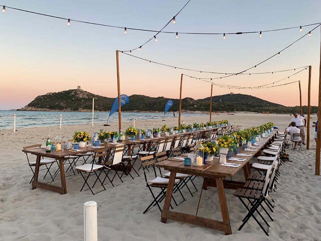 Corporate event by the beach