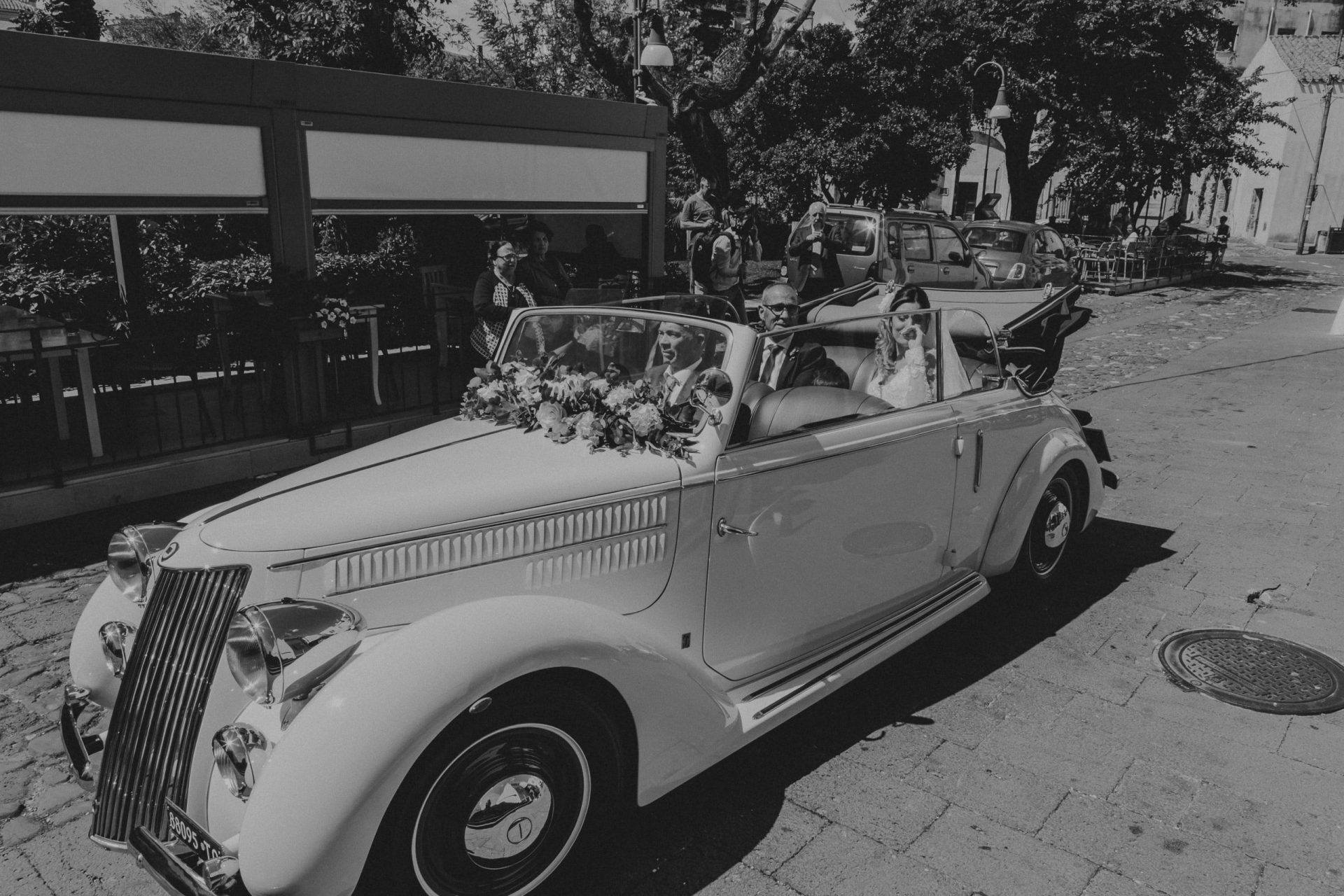 Giacomo and Federica, weding cars