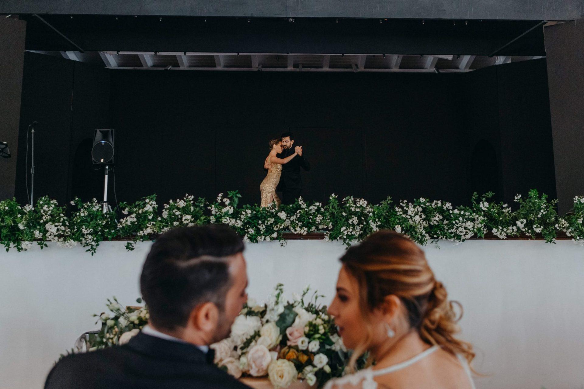 Giacomo and Federica, tango dancers