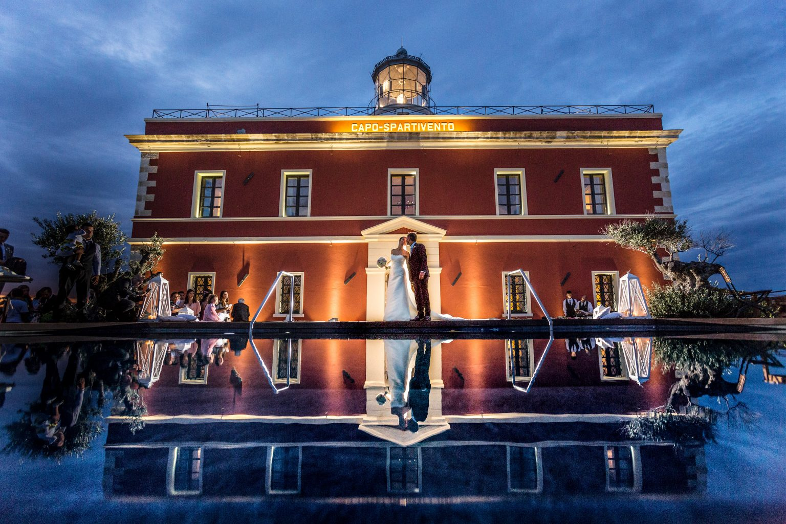 Gloria and Giovanni, lighthouse wedding party