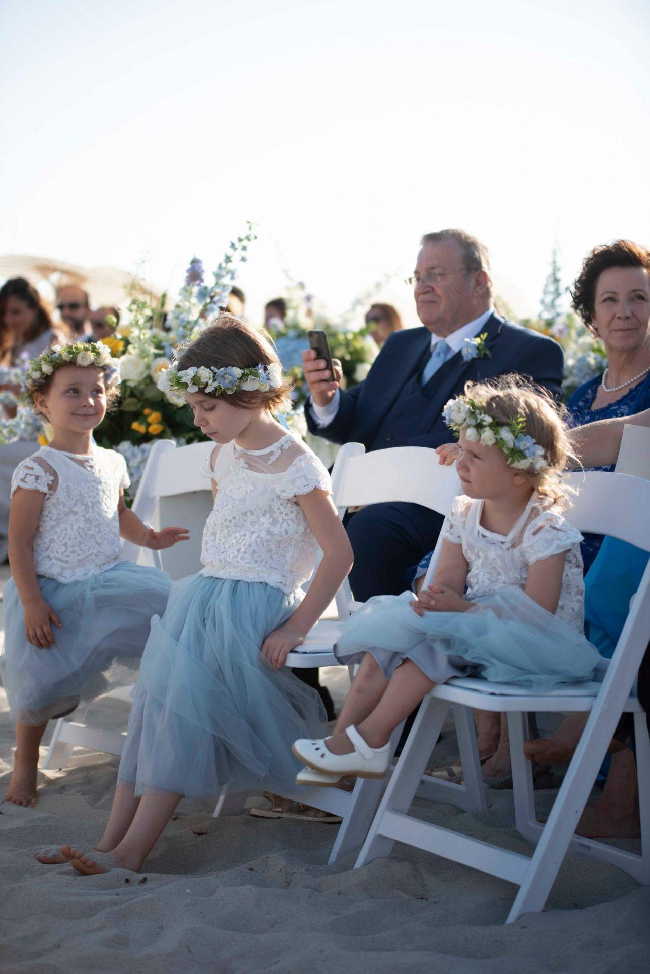 Linda and Enrico, flower girls