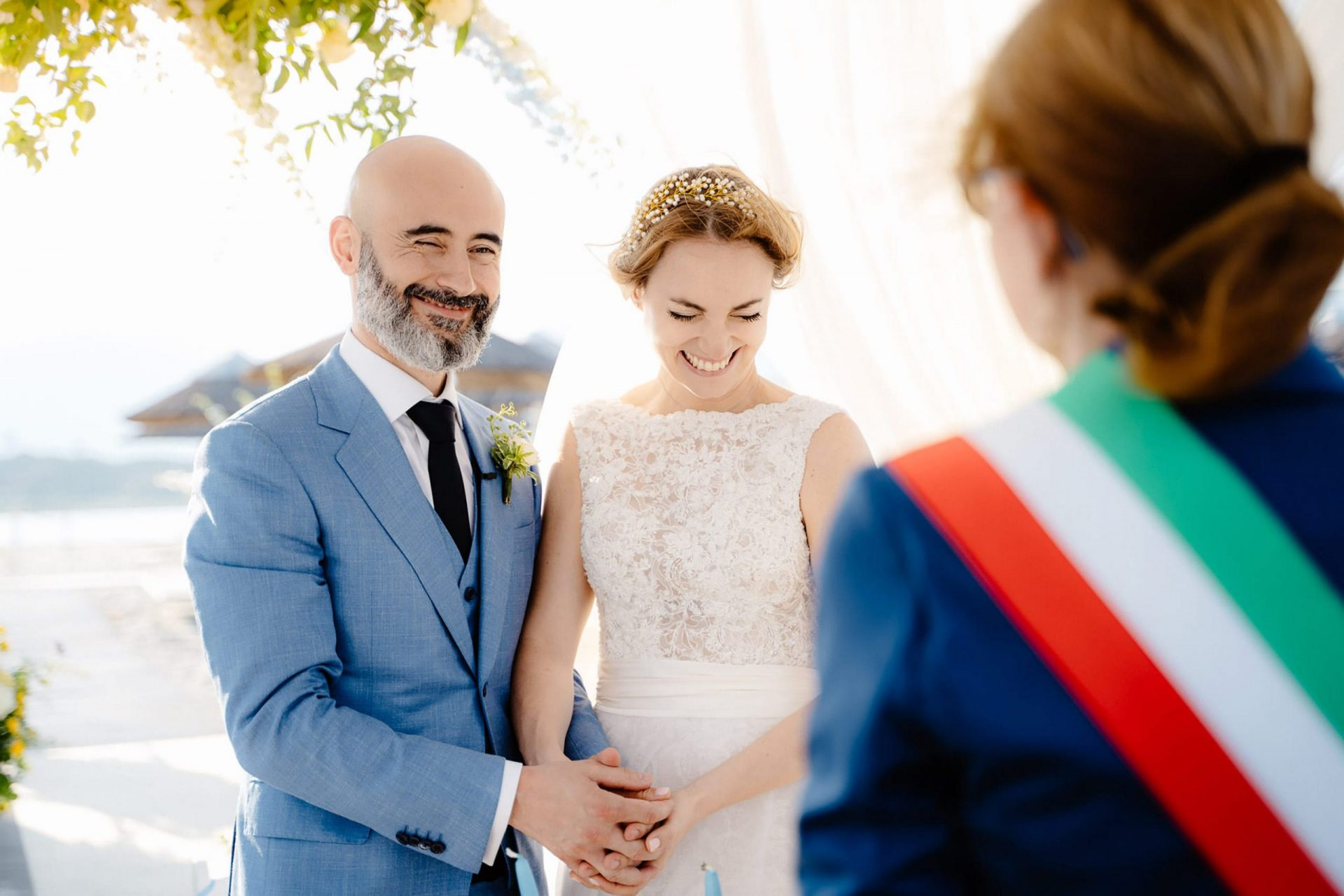 Linda and Enrico, the bride and the groom