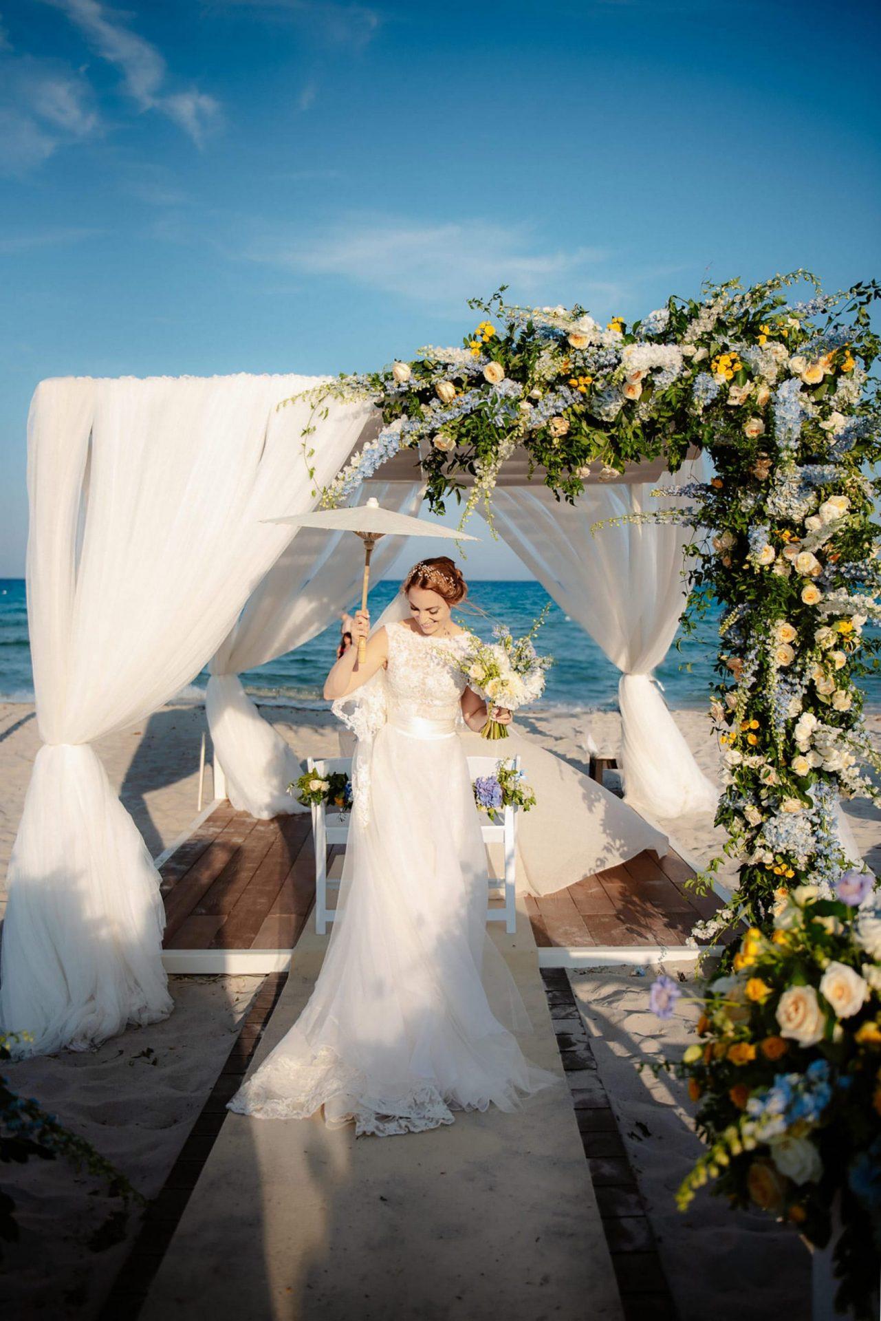 Linda and Enrico, the bride
