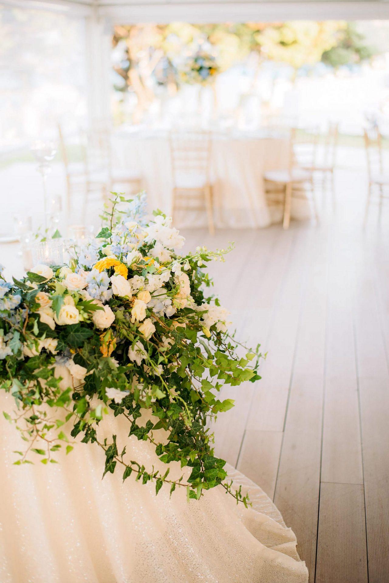 Linda and Enrico, flowers arrangements