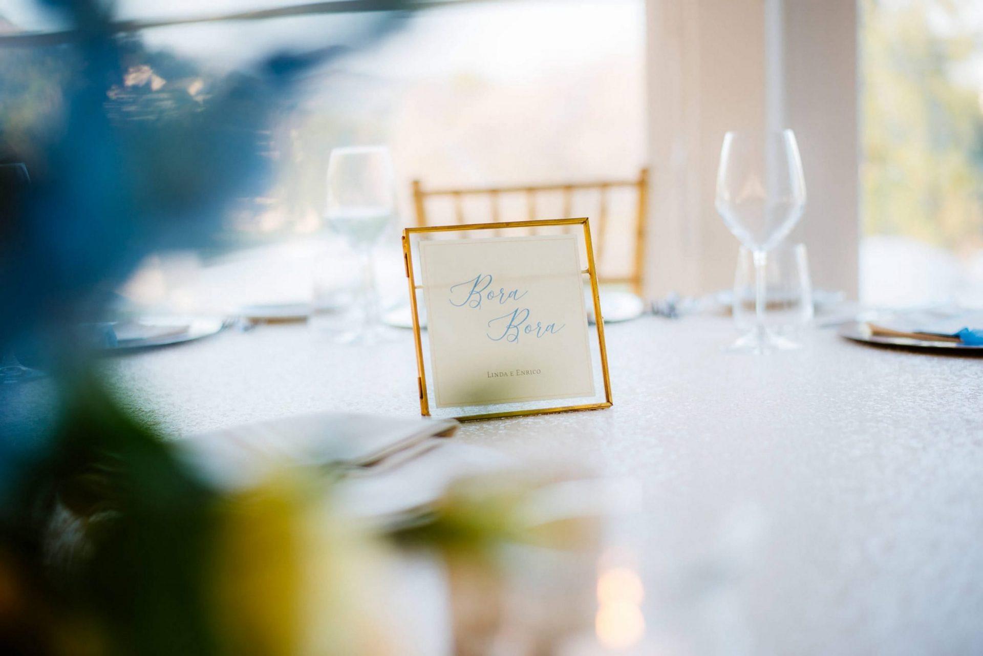 Linda and Enrico, table sign