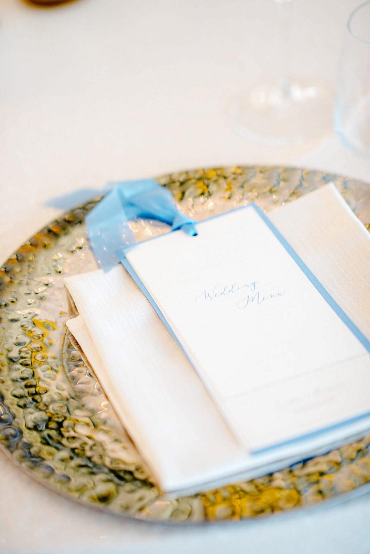 Linda and Enrico, wedding menu