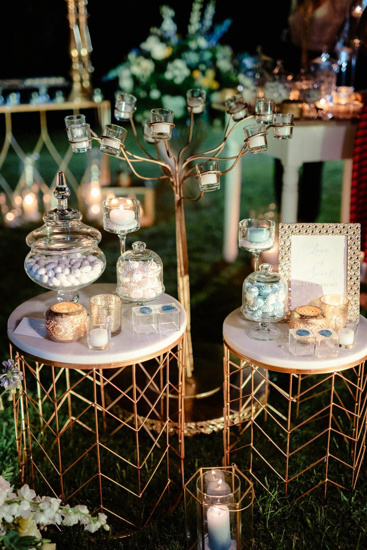 Linda and Enrico, the sweet table decor