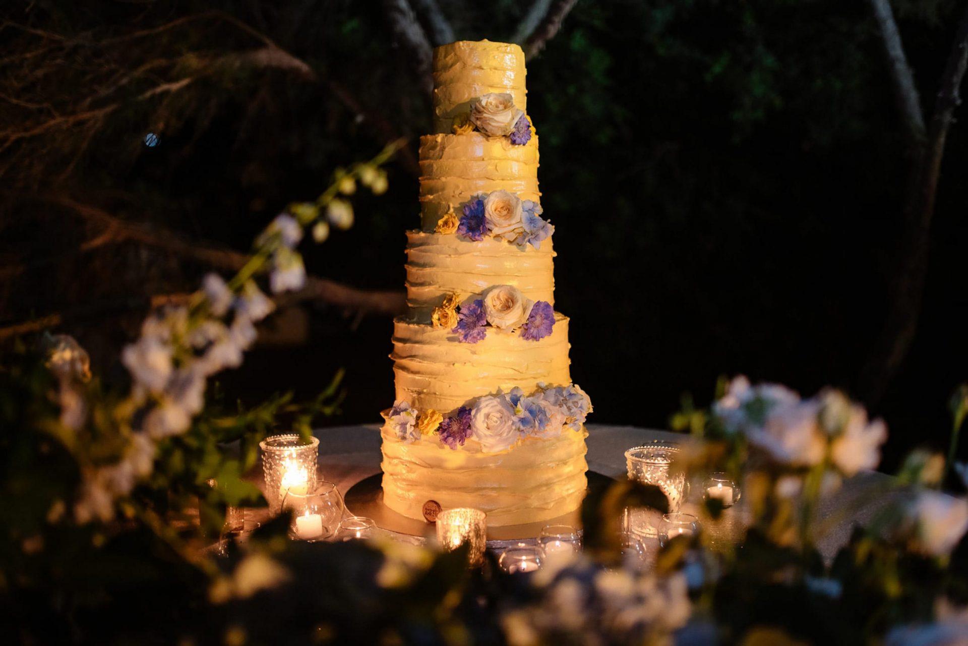 Linda and Enrico, the wedding cake