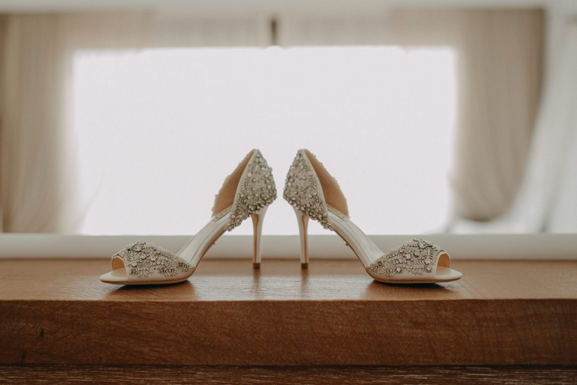 Luca and Anj, the brides shoes