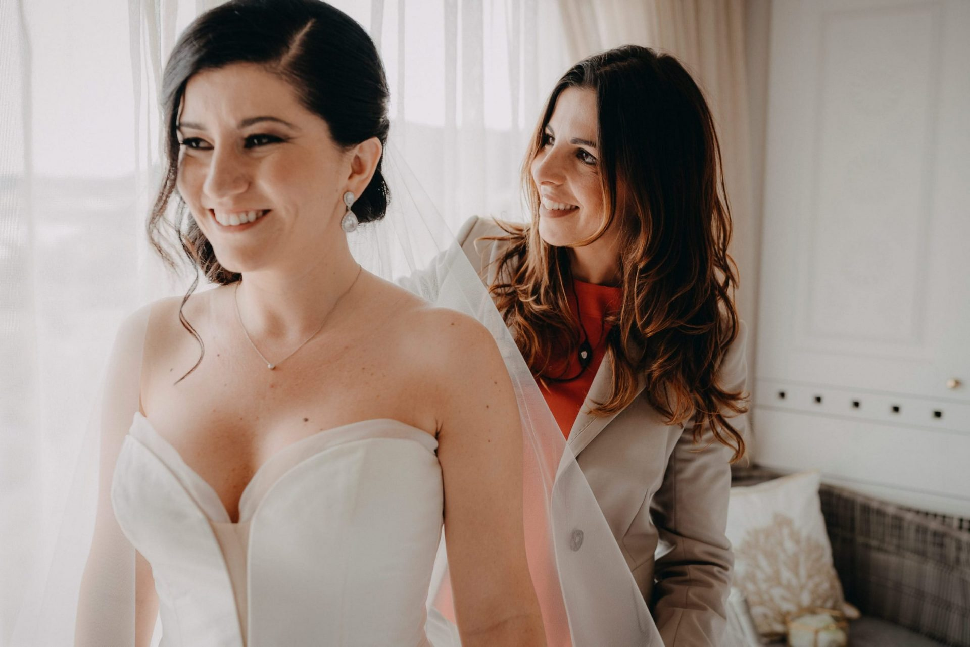 Luca and Anj, the bride and Sara
