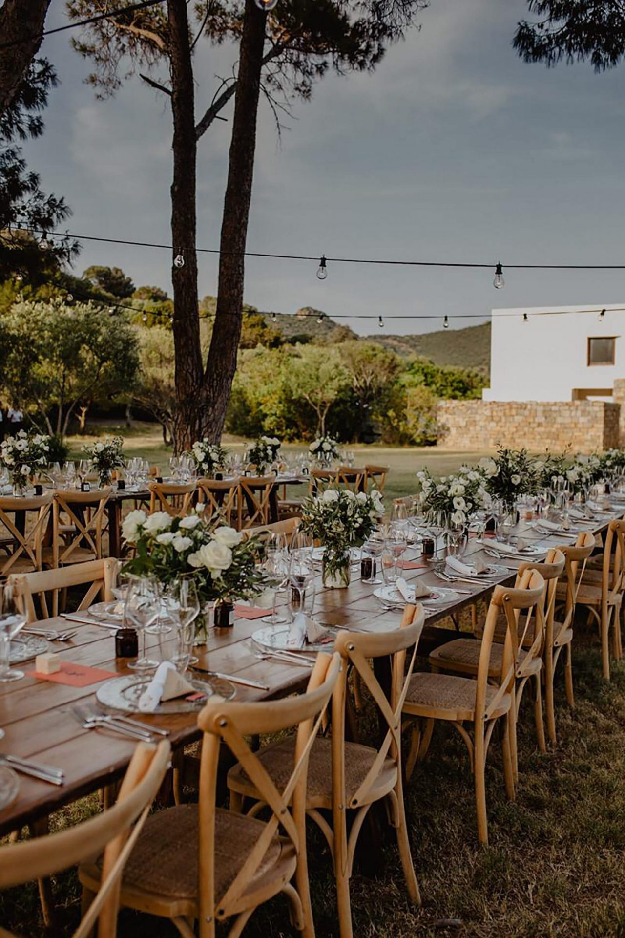 Luca and Delphine, natural wedding reception