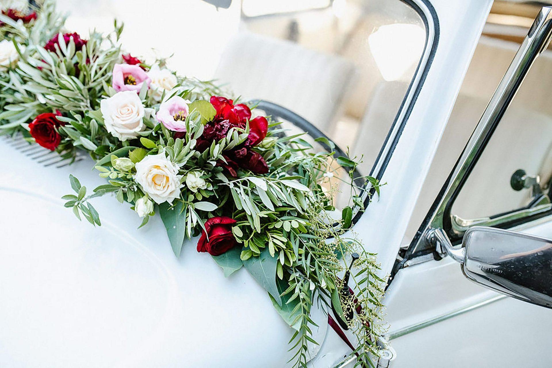 Marianna & Matteo, wedding car flowers decoration