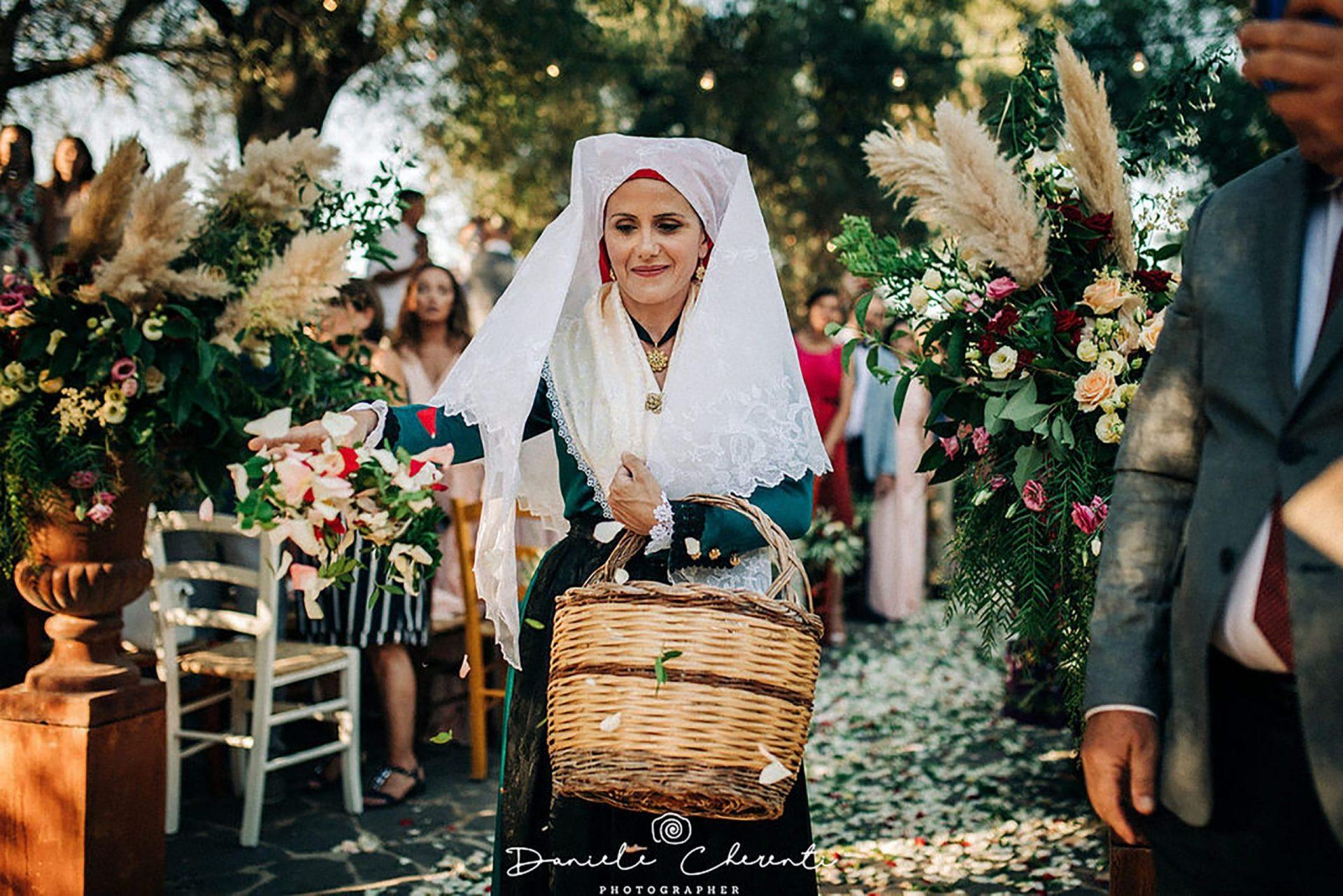 Marianna & Matteo, Sardinia lady wearing traditional costume