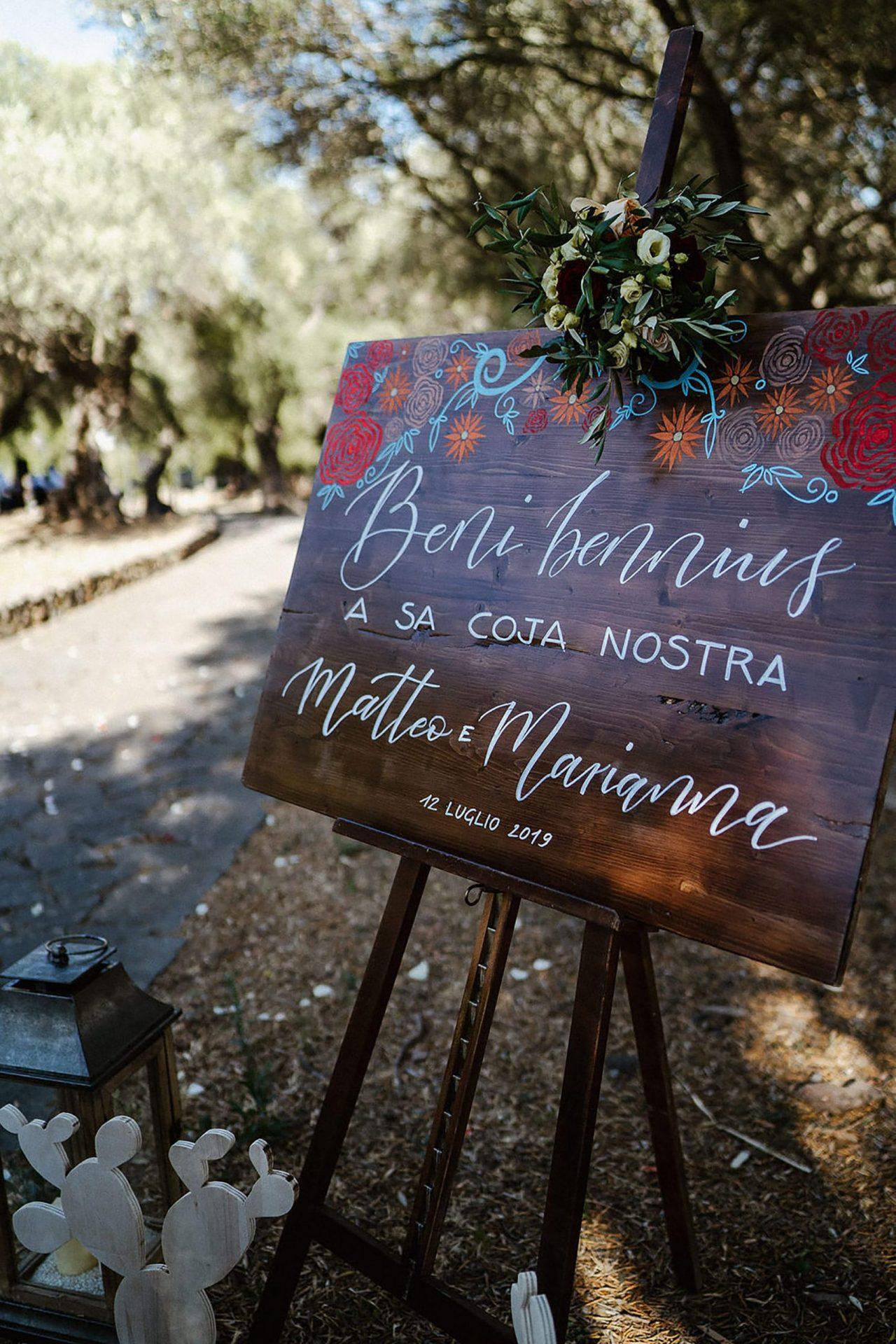 Marianna & Matteo, welcome board
