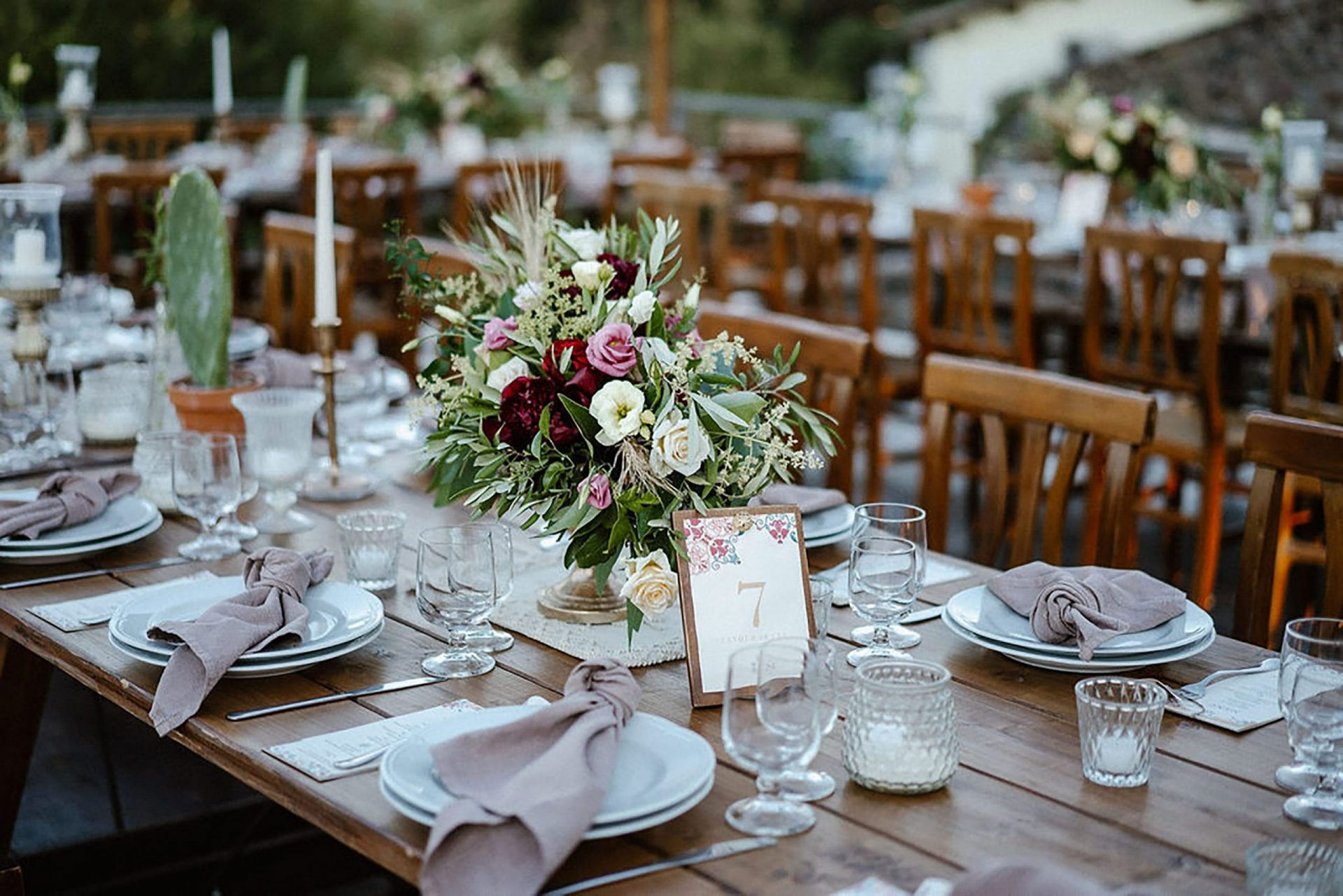 Marianna & Matteo, country inspired table decor