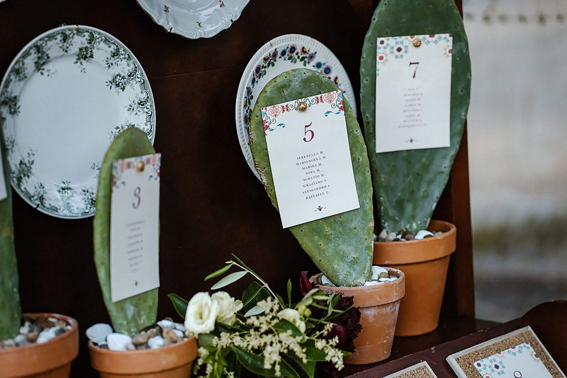 Marianna & Matteo, cactus wedding detail
