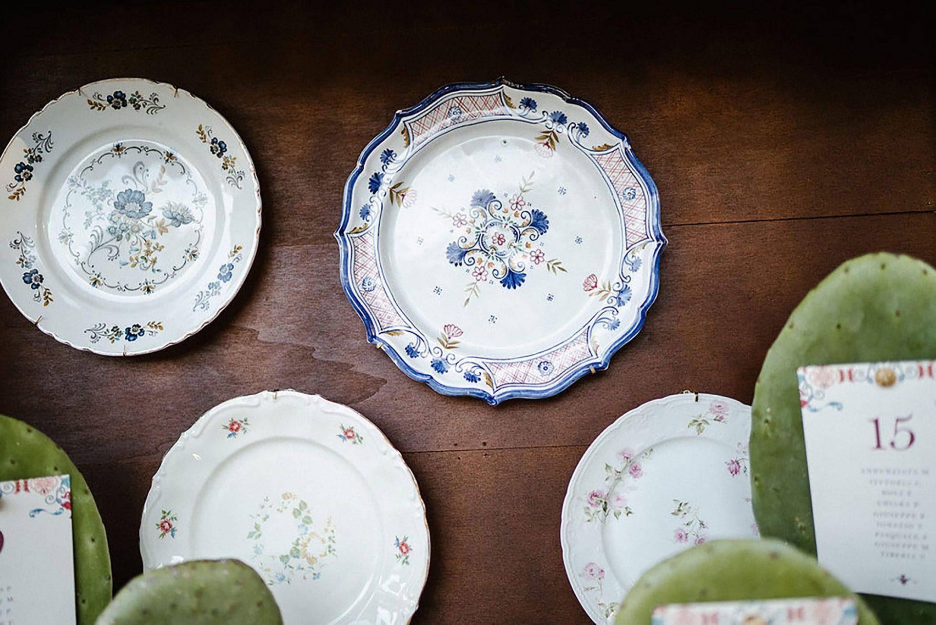 Marianna & Matteo, vintage plates