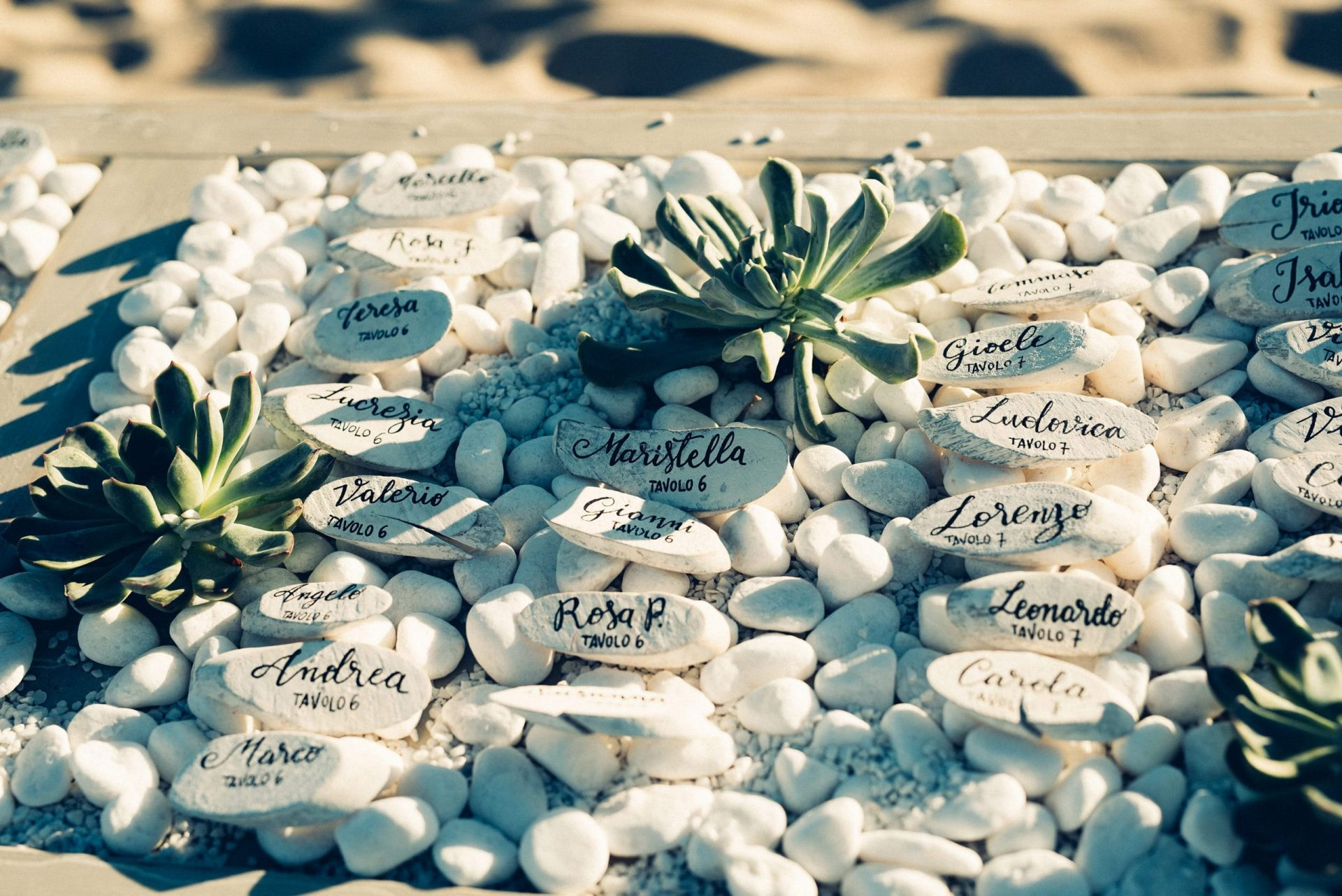 Mario and Mery, beach inspired table plan