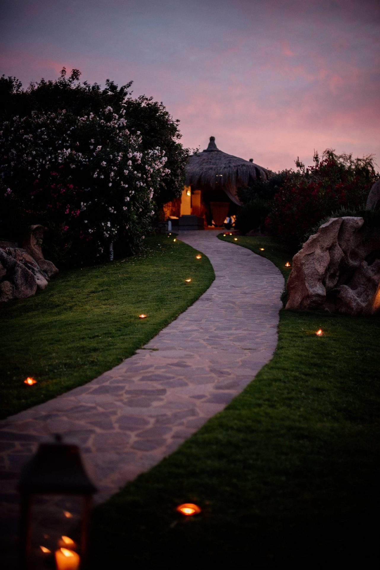 Melanie & Perit, wedding in Sardinia, walking path