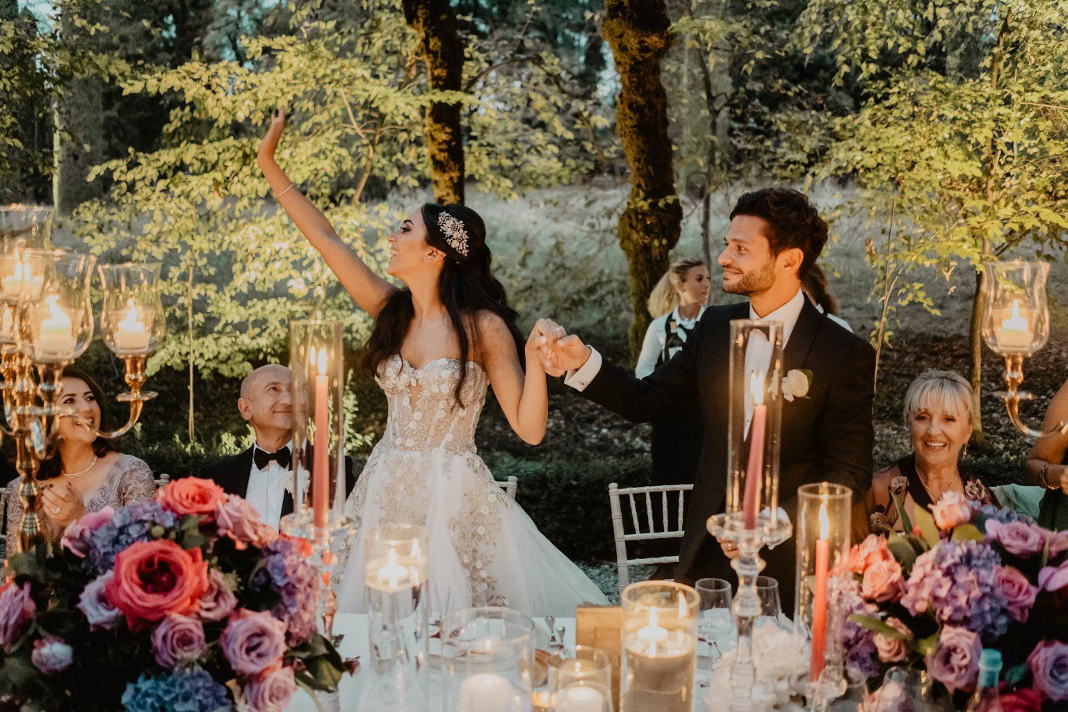 Ranya and Tarek, luxury wedding dinner