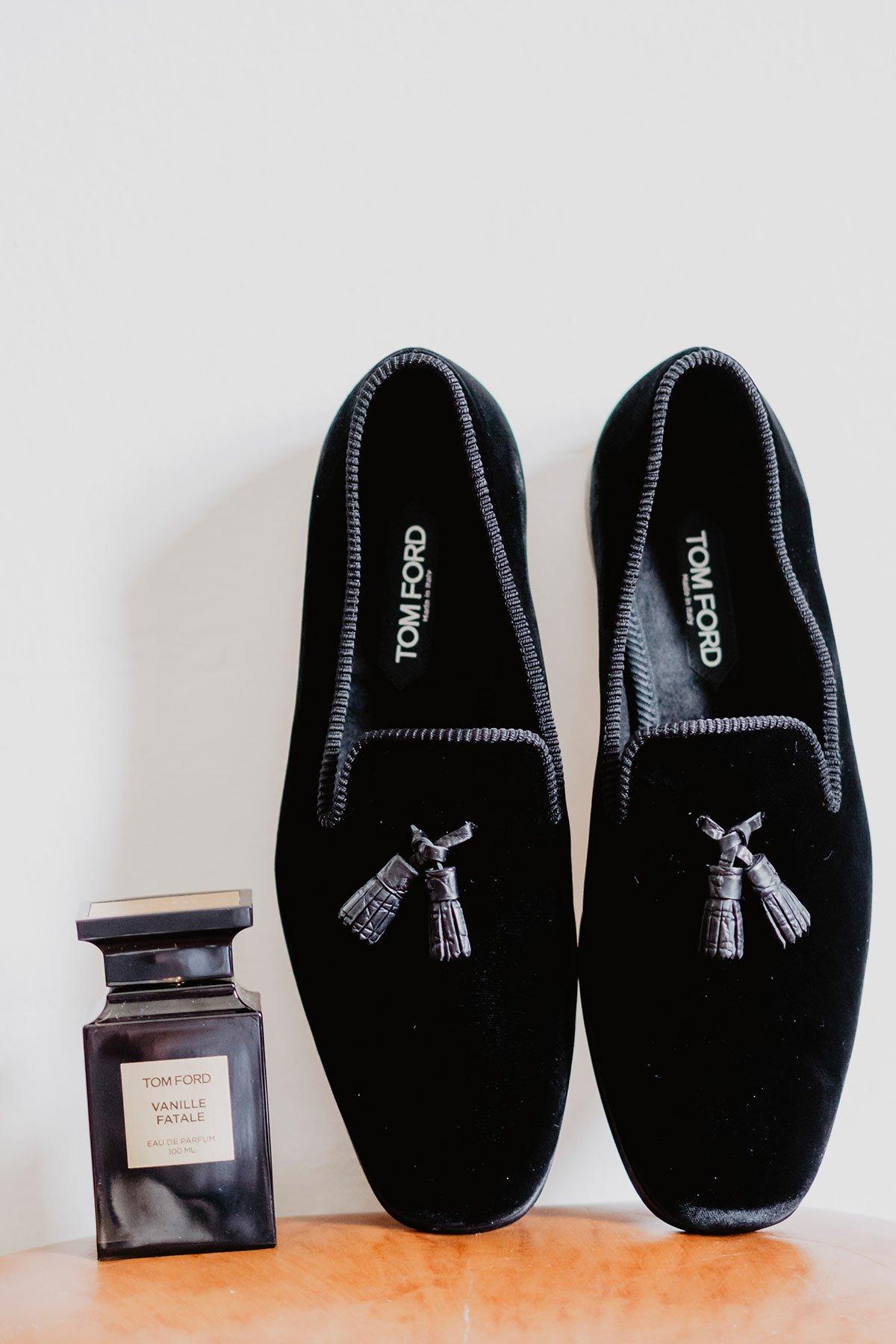 Ranya and Tarek, the groom shoes