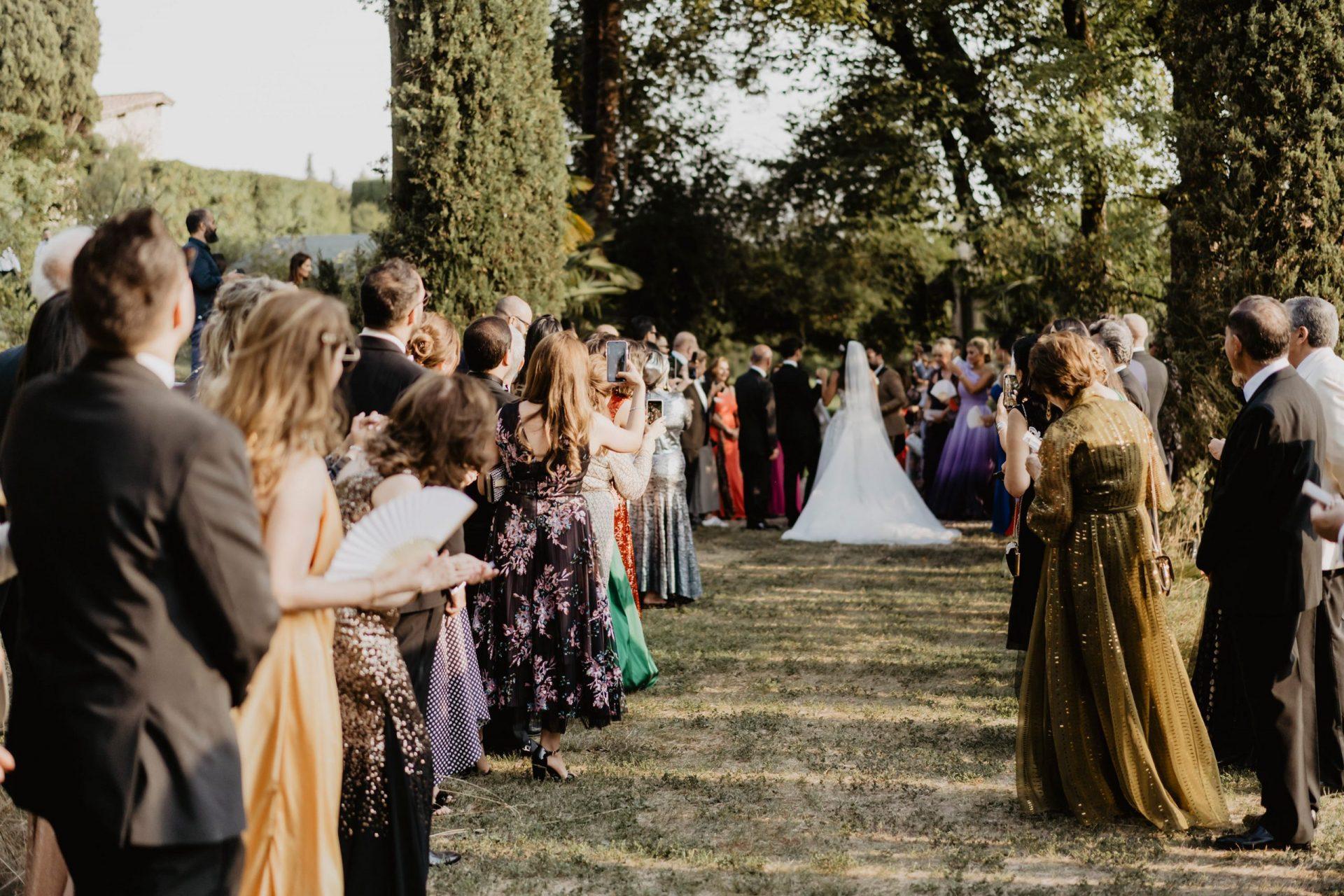 Ranya and Tarek, Italian garden wedding