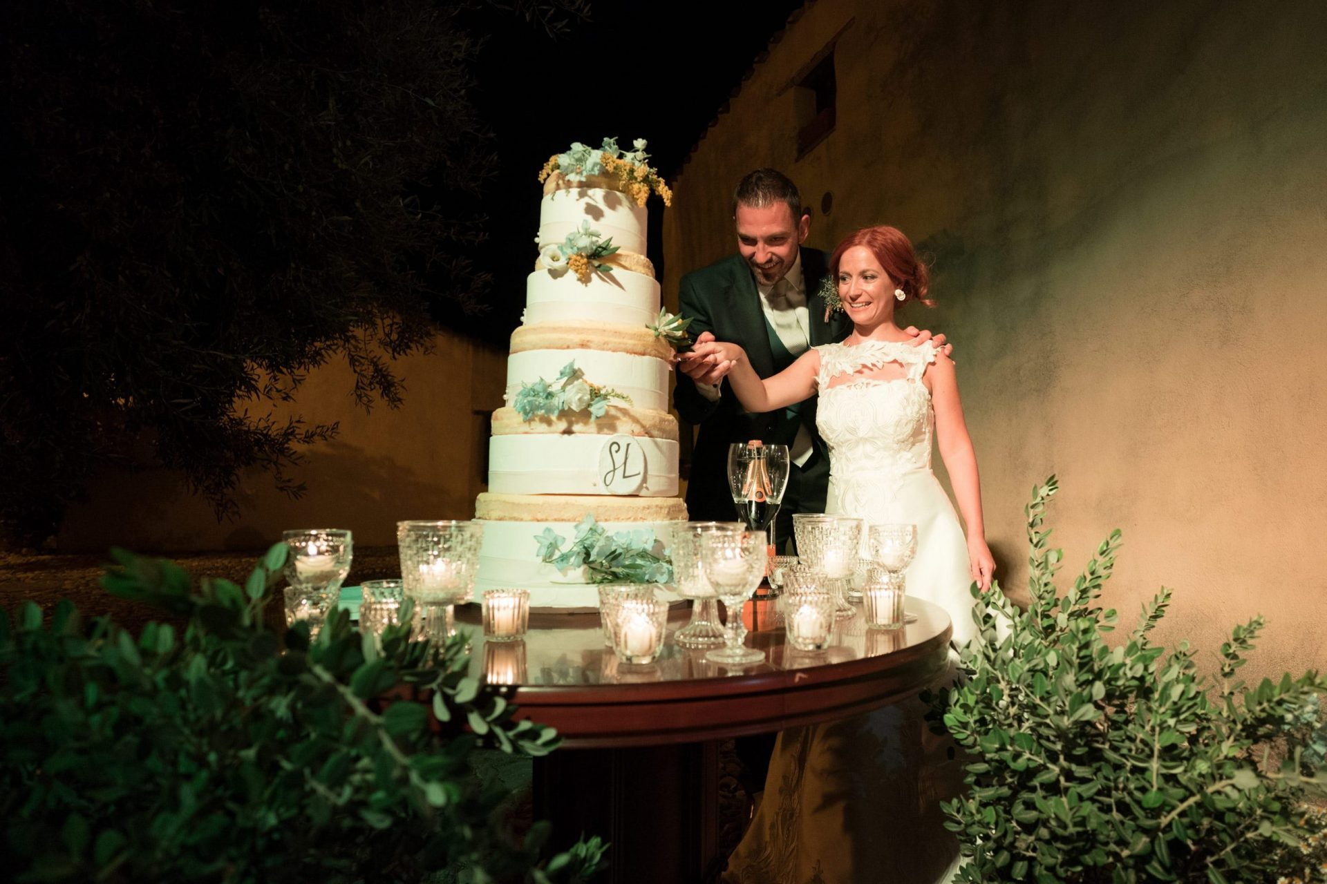 Sara and Leonardo, wedding cake