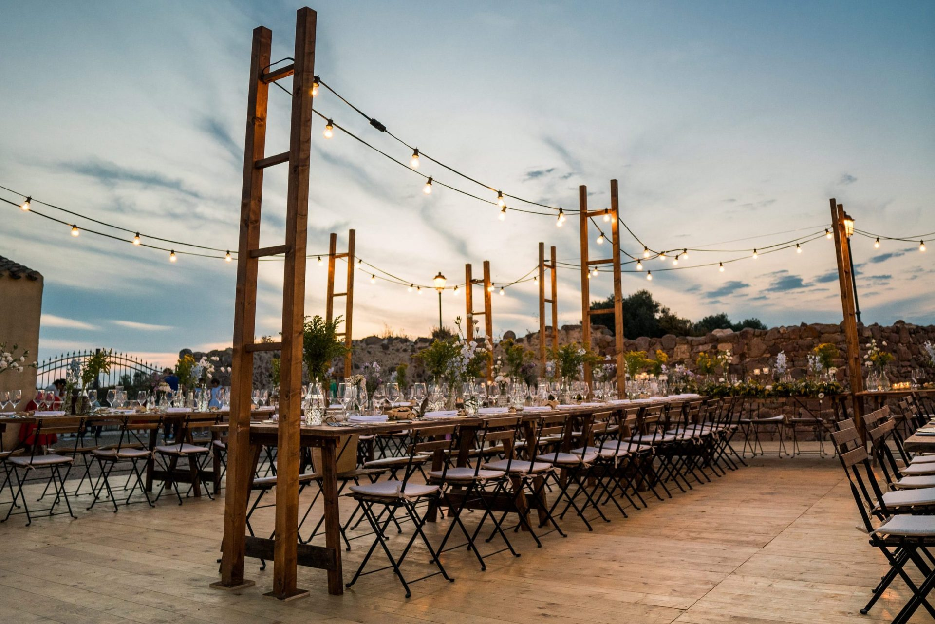 Sara and Leonardo, rustic wedding reception