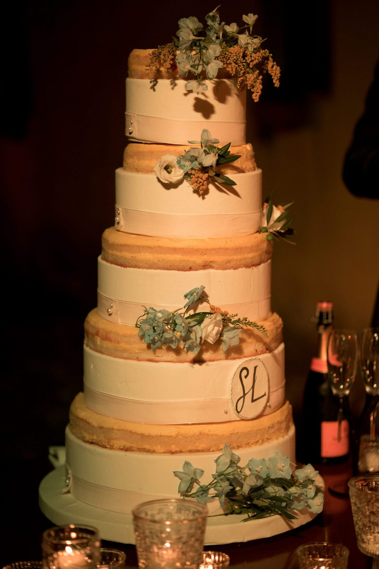 Sara and Leonardo, rustic wedding cake