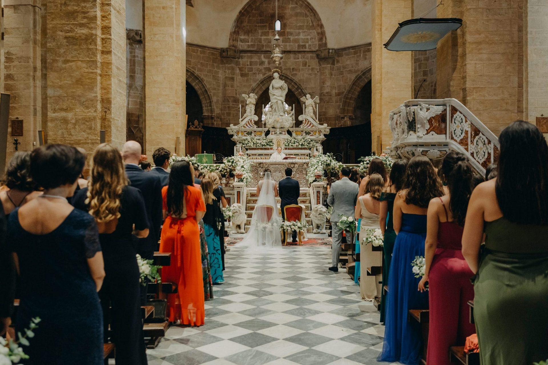 Simona and Elie, wedding ceremony, church decoration