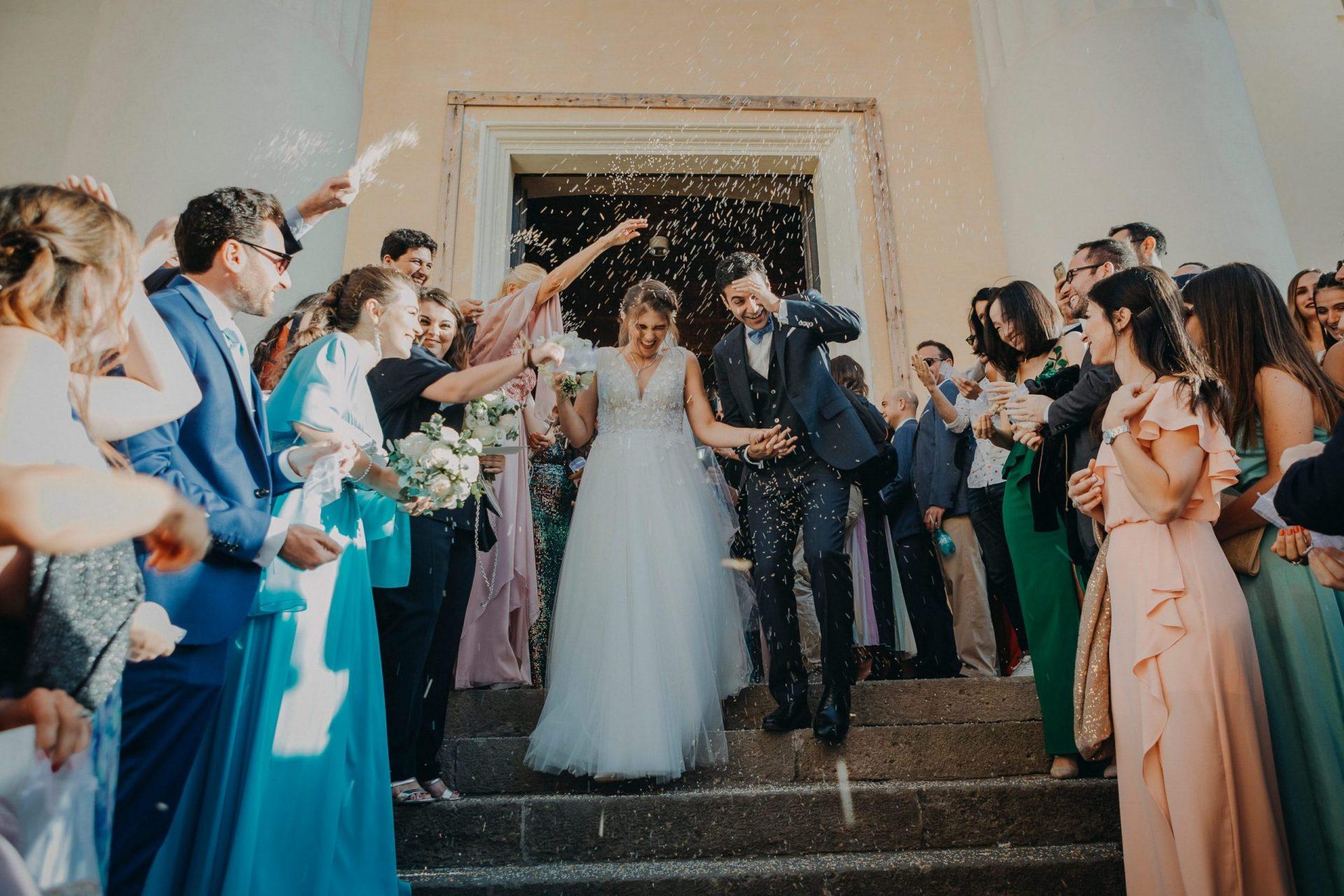 Simona and Elie, confetti launch