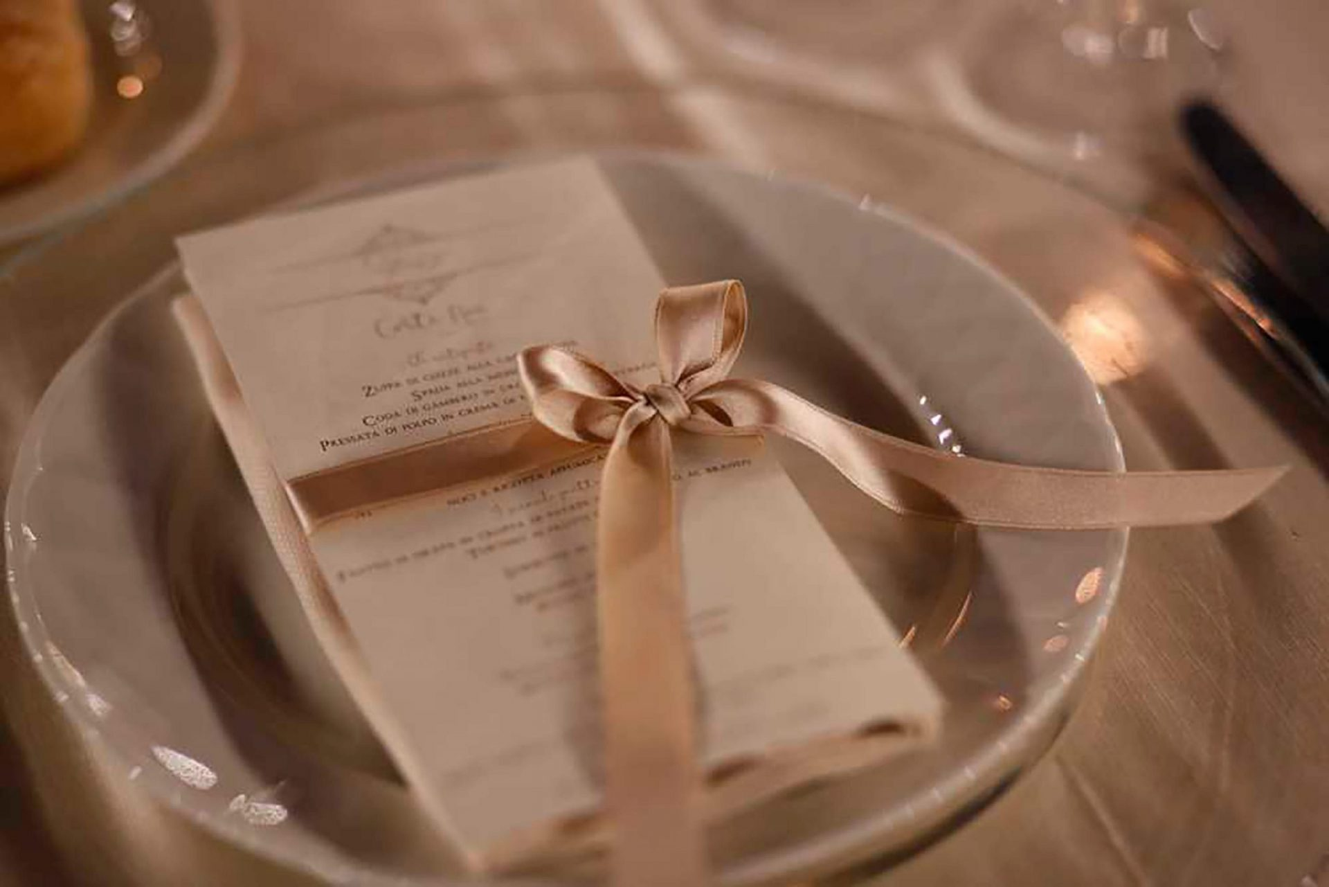Simona and Giovanni, wedding menu detail