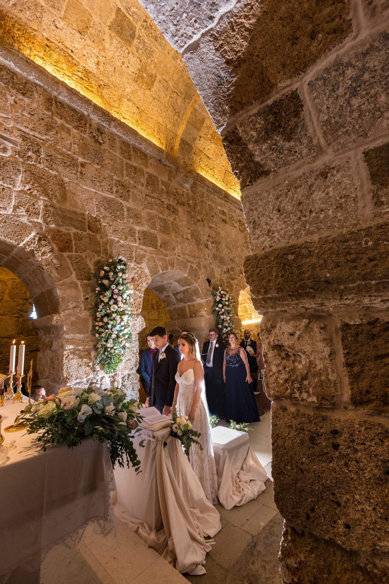 Federica and Stefano, historical church ceremony