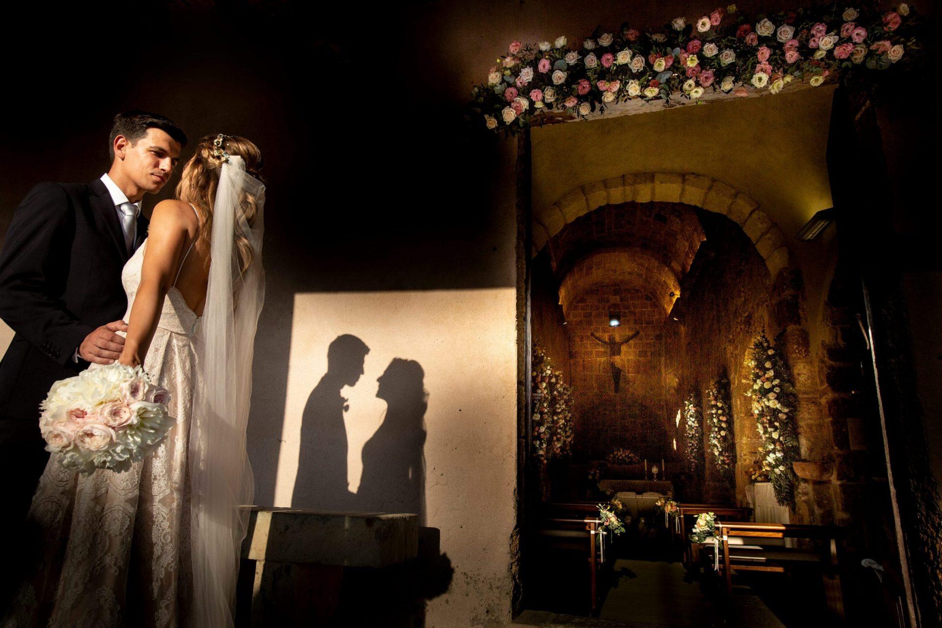 Federica and Stefano, historical villa in Cagliari, the bride and the groom