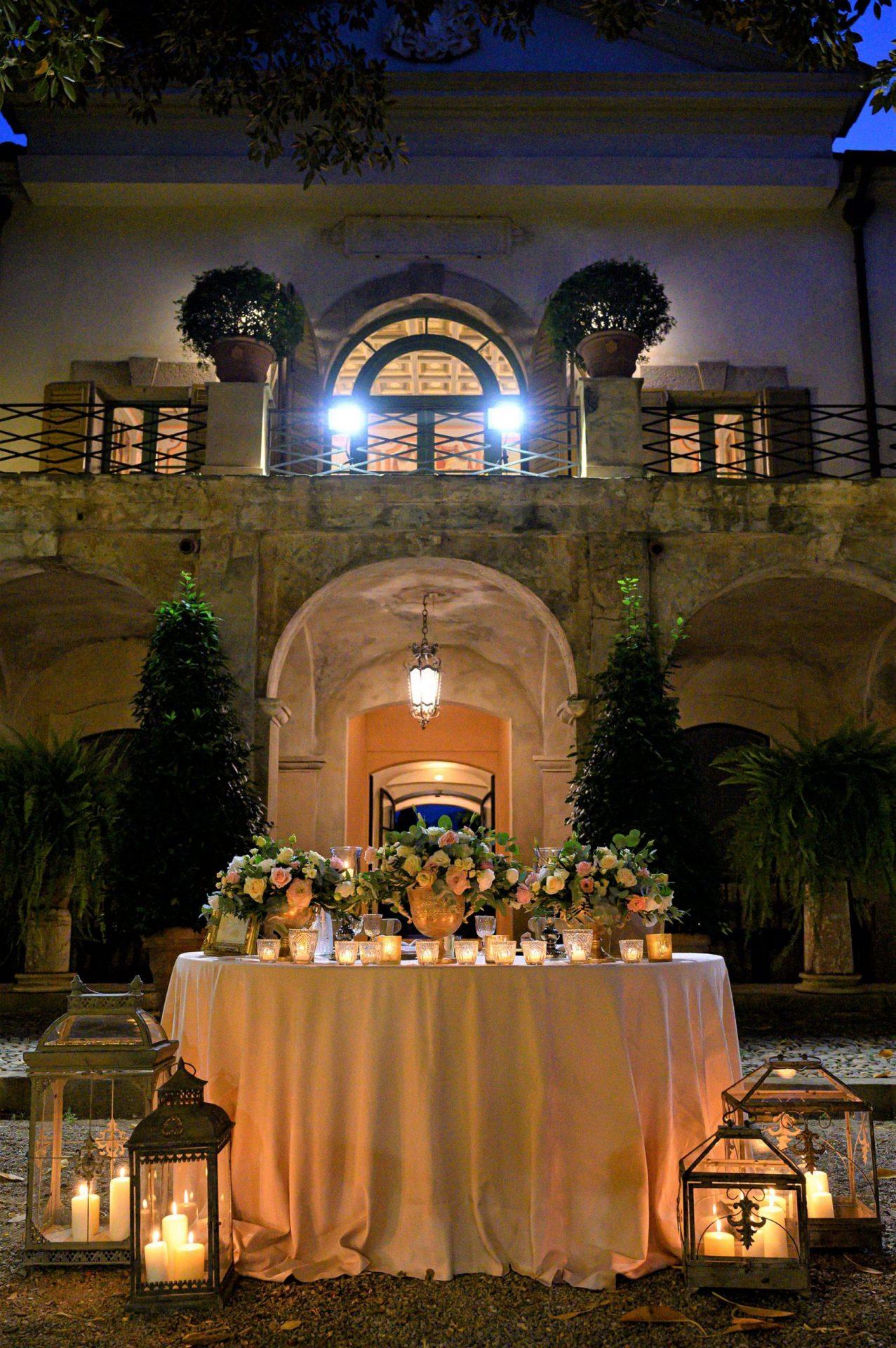 Federica and Stefano, historical villa in Cagliari, wedding decoration