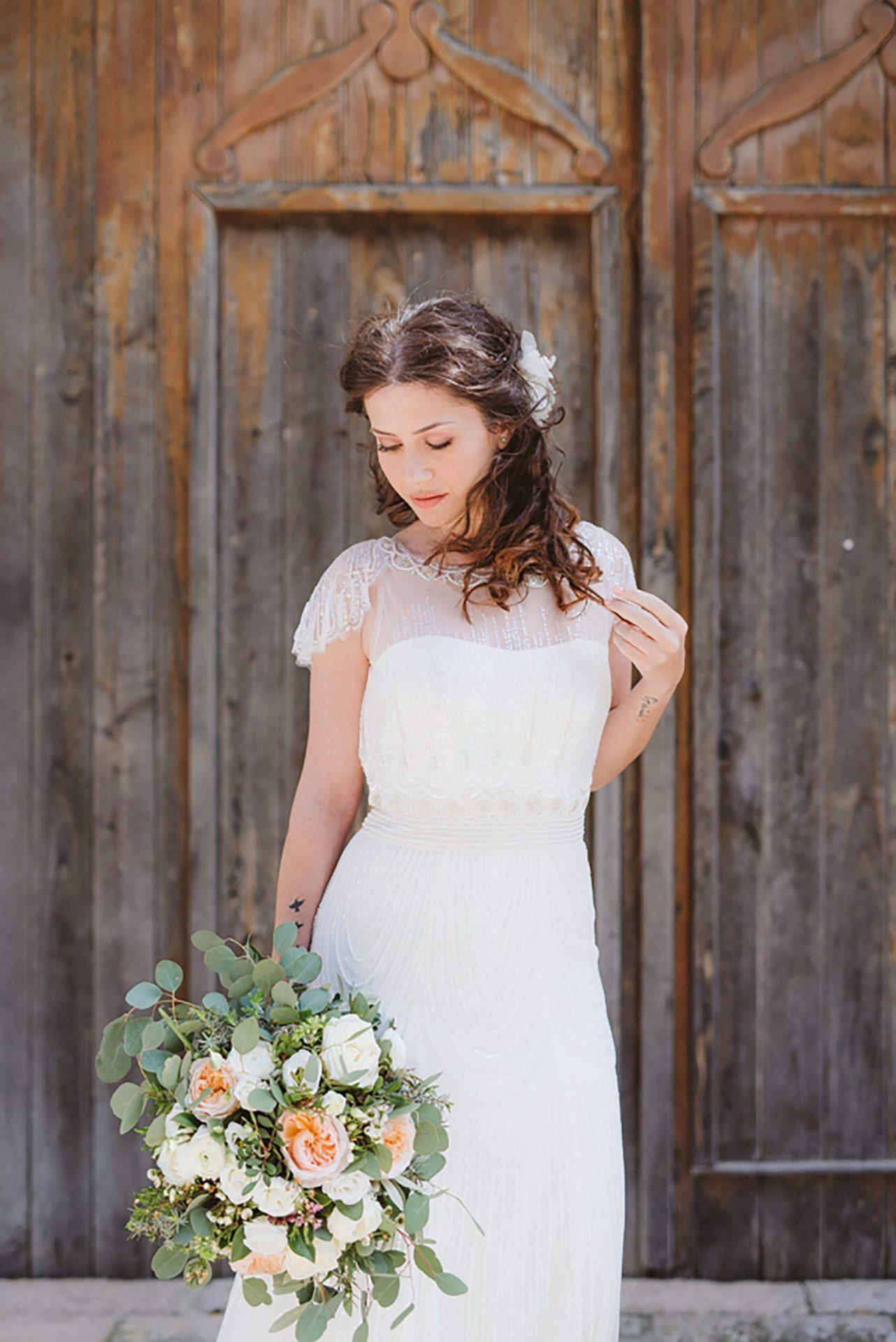 Elopement in ancient Italian village, the bride