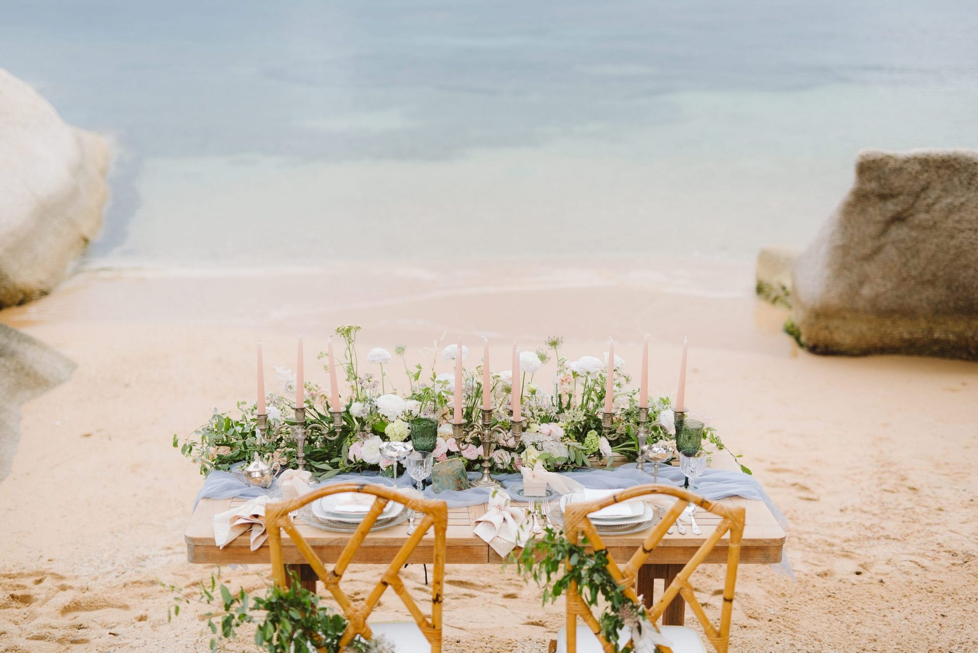 Elopement in Costa Smeralda, table decor
