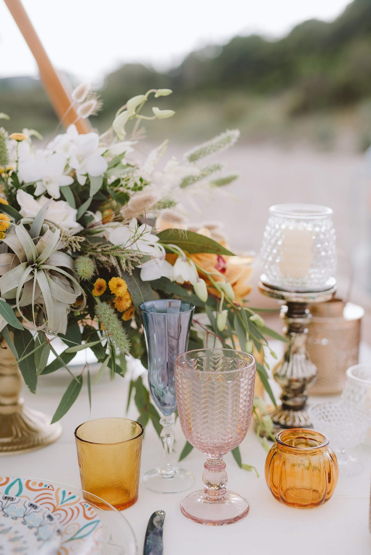 Elopement San Pietro Island, table decor