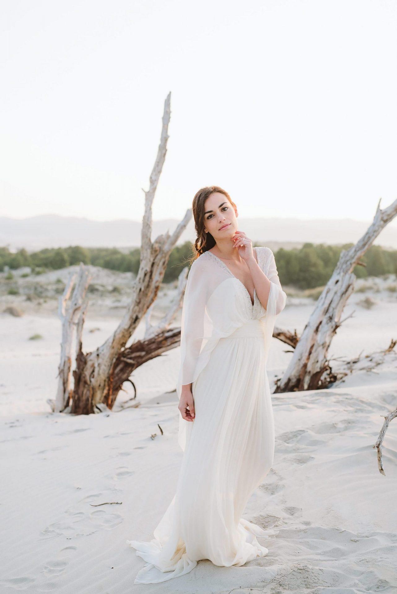 Elopement in Sardinia, the bride