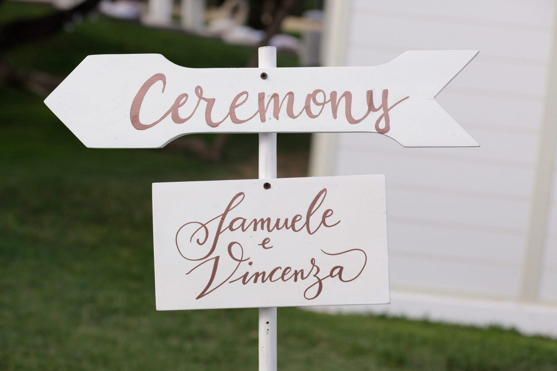 Enza e Samuele, wedding sign
