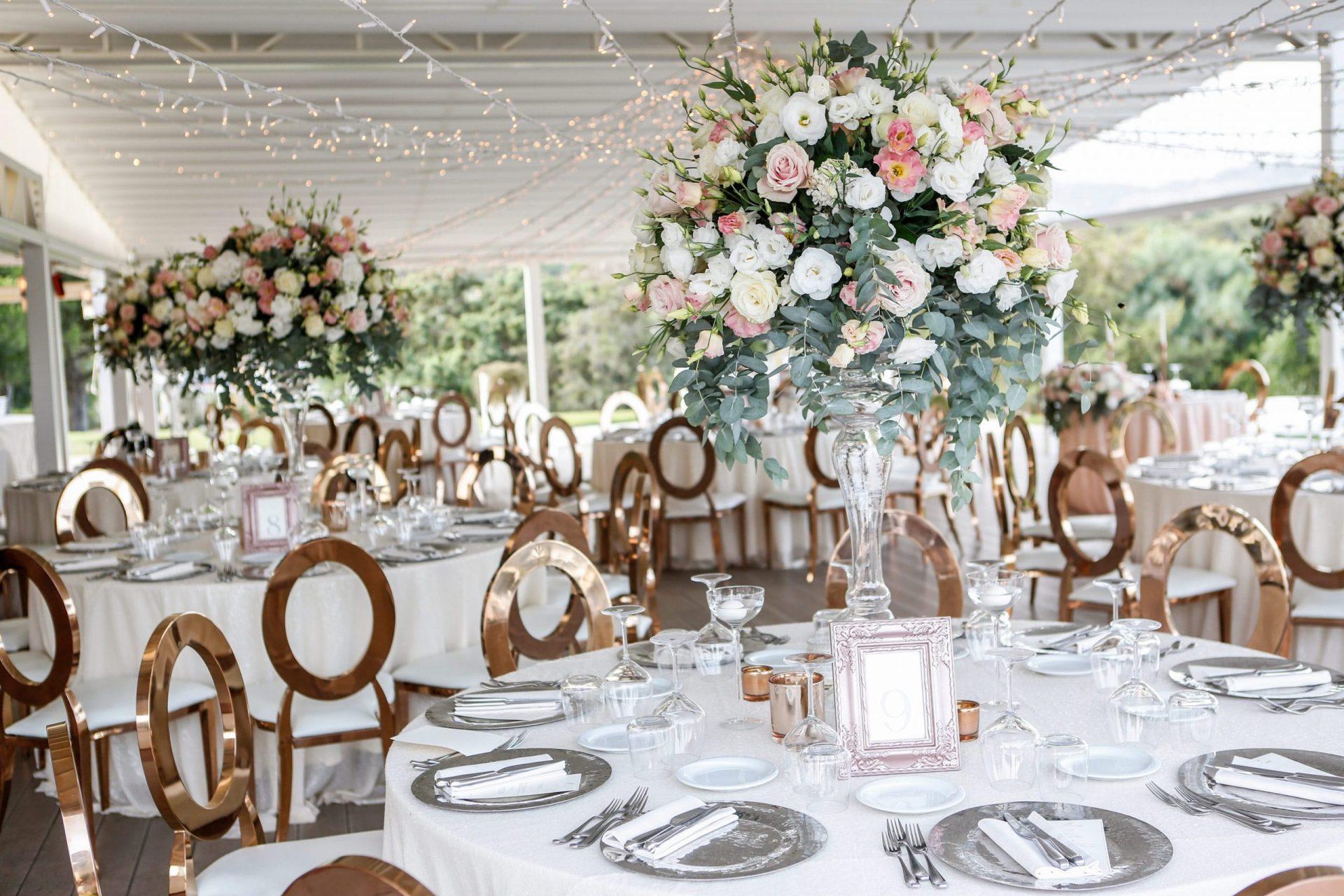 Enza e Samuele, wedding reception flower centrepiece