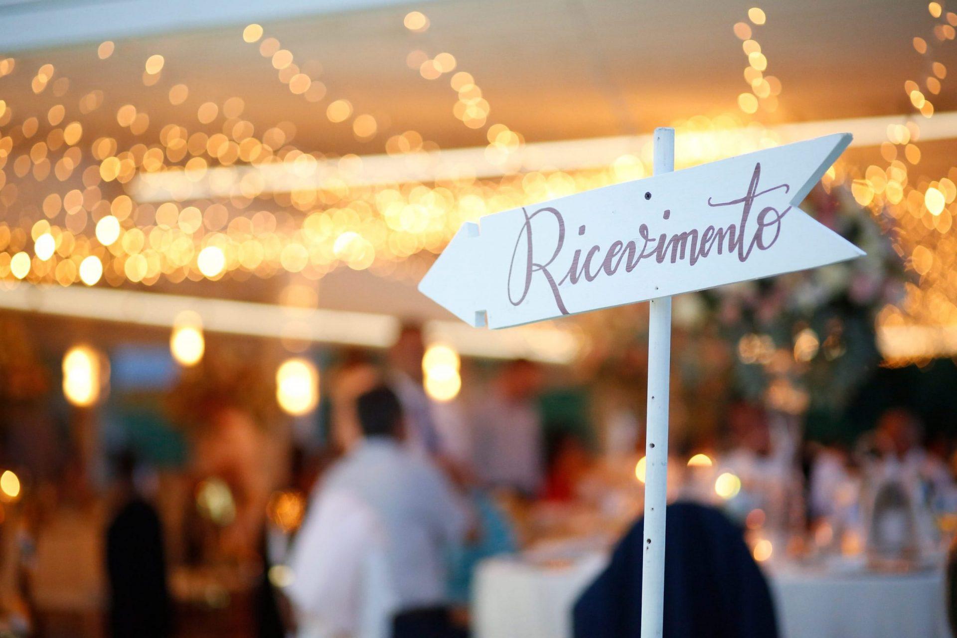 Enza e Samuele, wedding reception sign