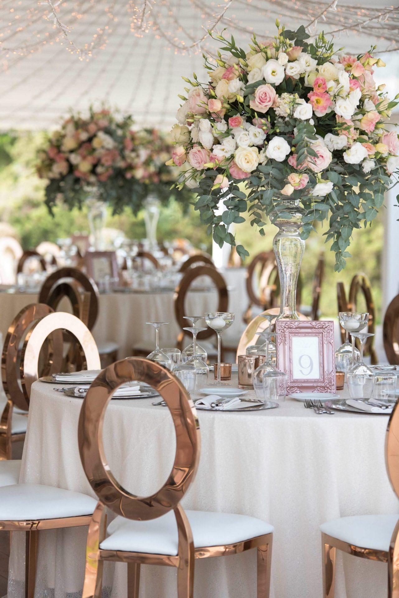 Enza e Samuele, wedding reception, elegant flower centrepiece