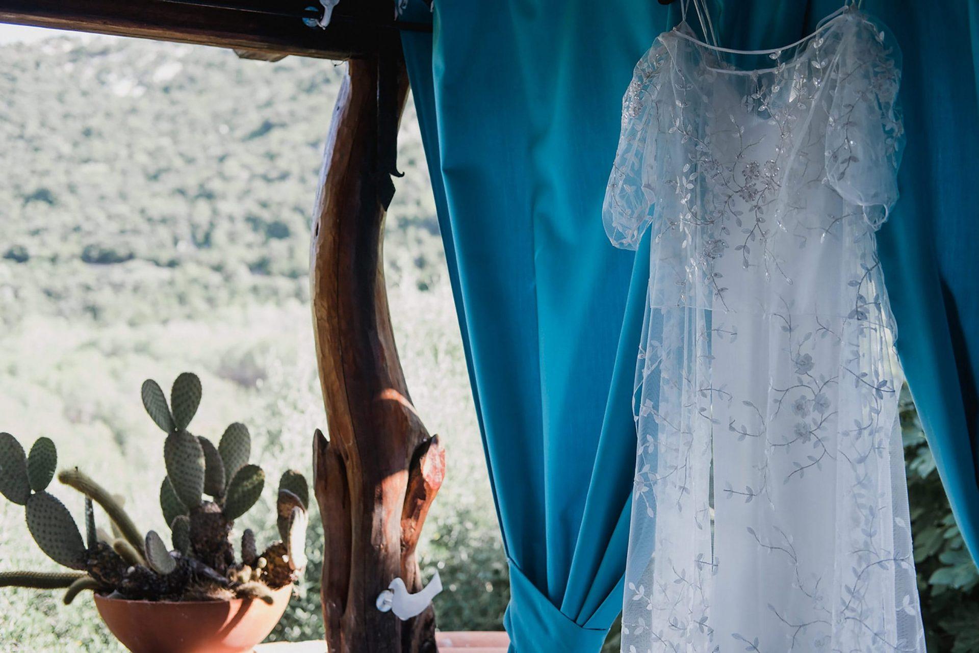 Su Gologone wedding, the bride dress