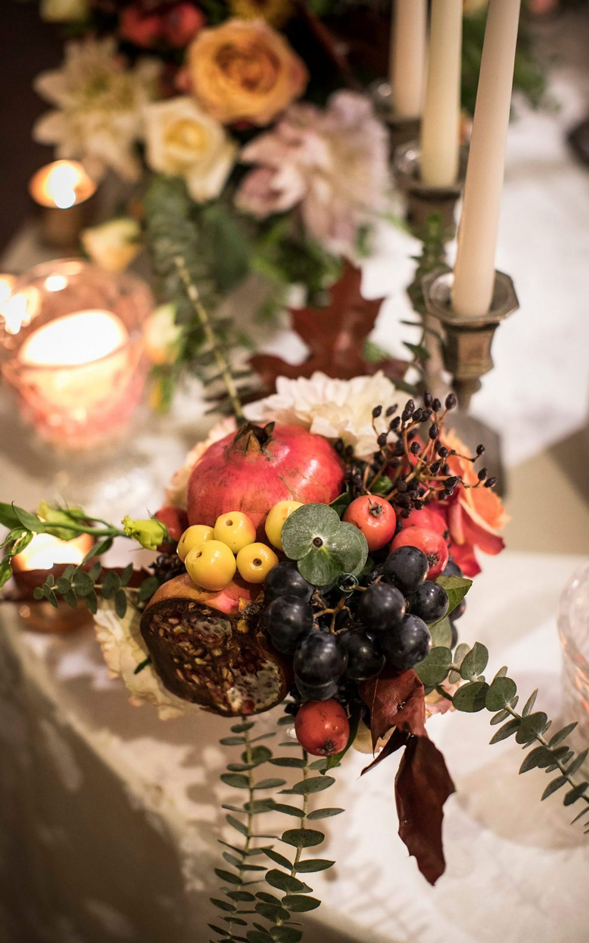 Su Gologone wedding, whimsical table decor